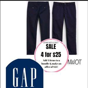 4/$25 NWOT 1 pair Gap Navy blue stretch chino twill khaki pants